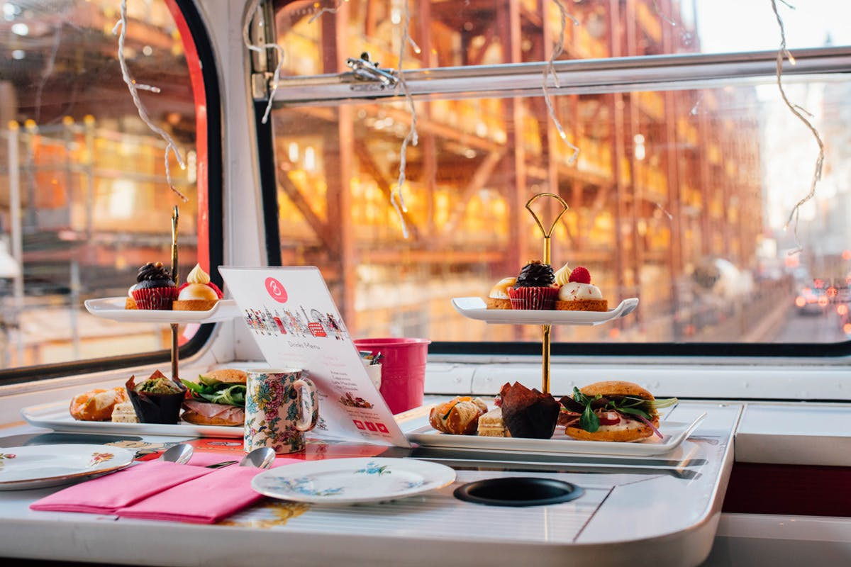 Afternoon tea vintage bus tour London with Virgin Experience Days