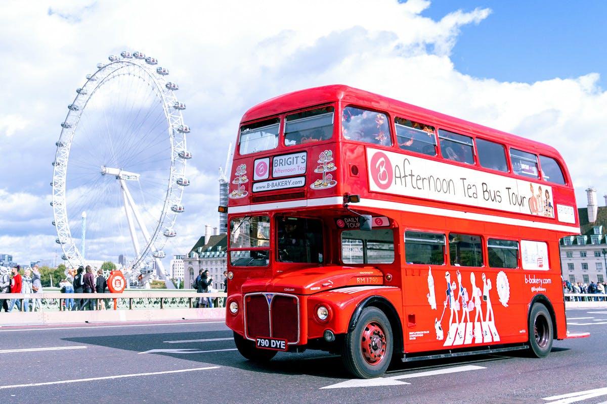 Vegan experiences in London B Bakery vintage afternoon tea bus tour Virgin Experience Days