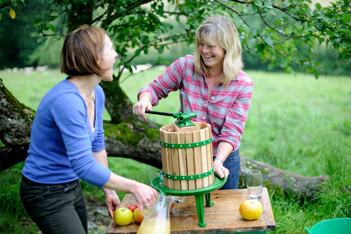 Sustainable cider making workshop outdoor group activity with Virgin Experience Days