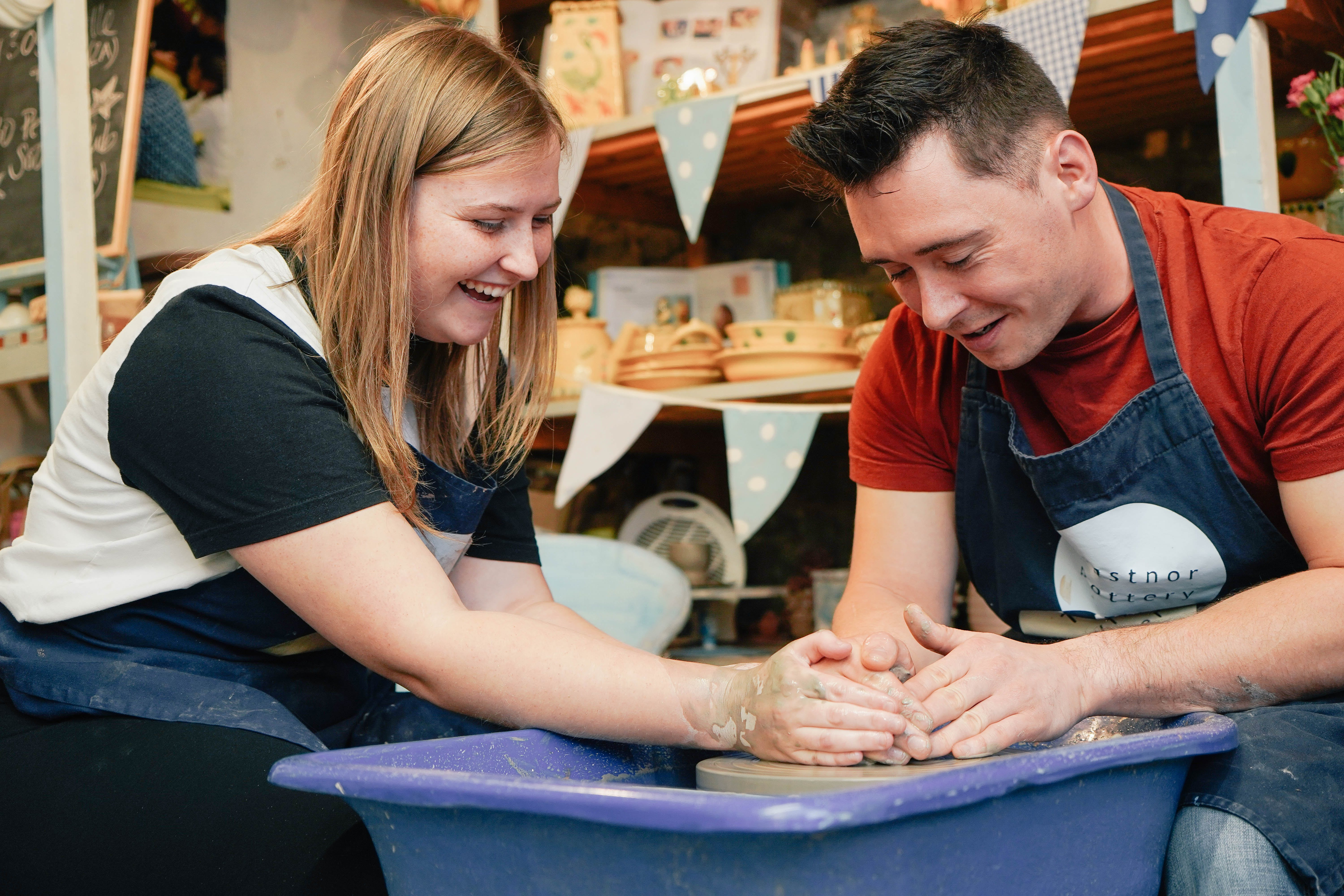 Pottery workshop Christmas gifts for couples with Virgin Experience Days