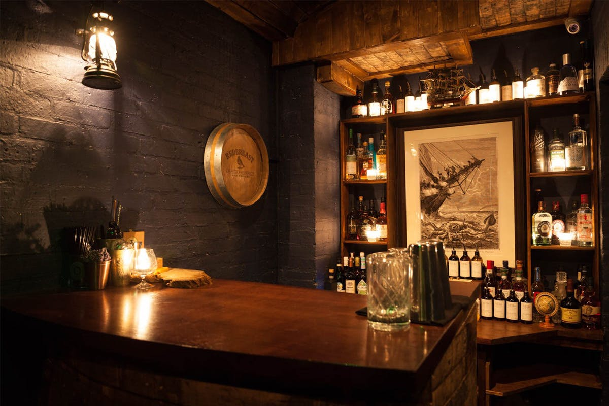 Smallest speakeasy bar in London with personal bartender and bespoke cocktails