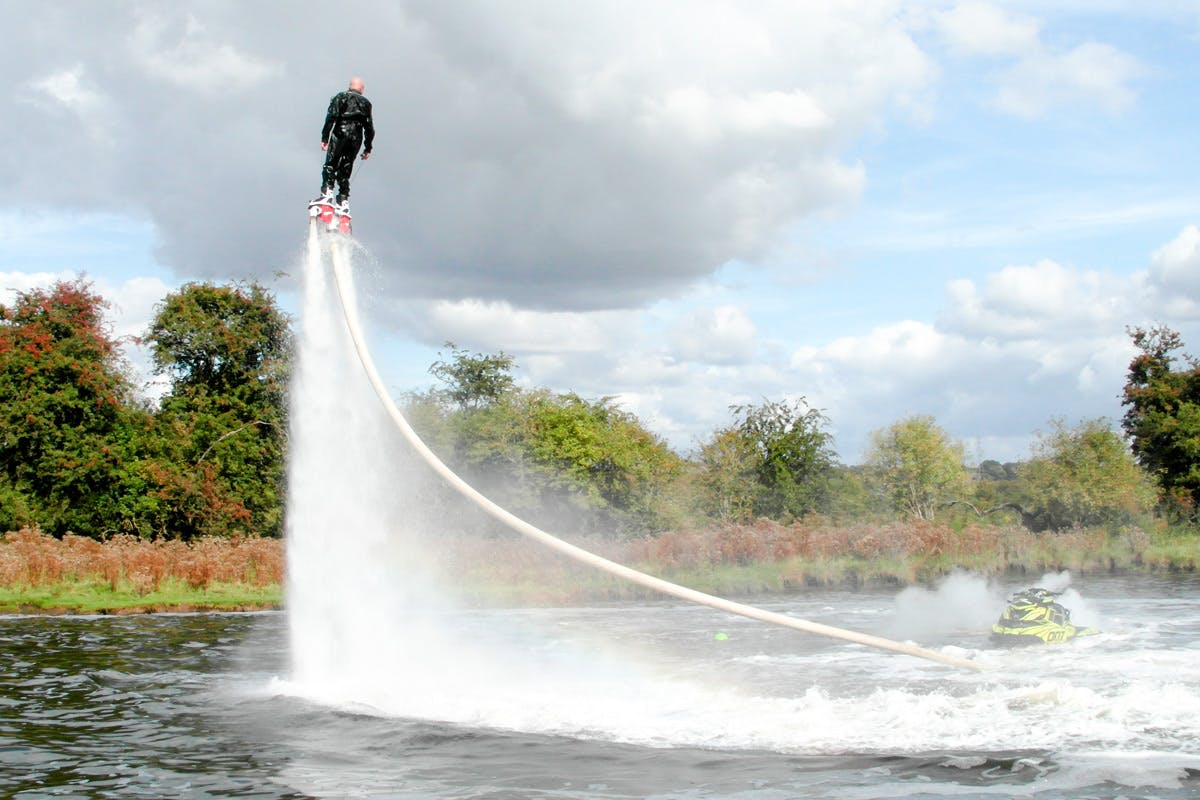 Extended flyboarding adrenaline water sports unique gifts with Virgin Experience Days