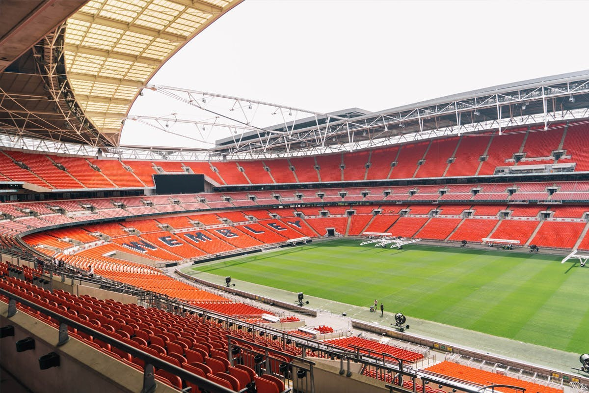 Empty Wembley stadium