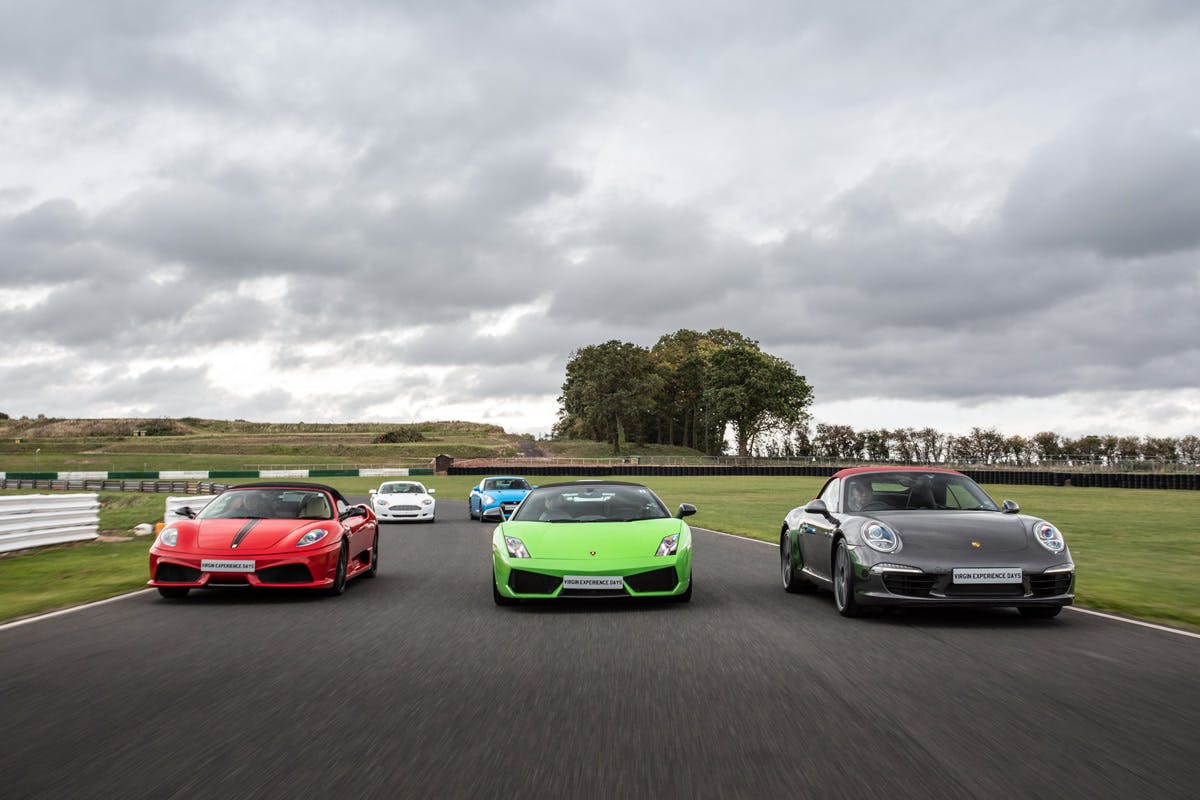 Five supercar blast ultimate bucket list birthday gift with high speed ride Virgin Experience Days