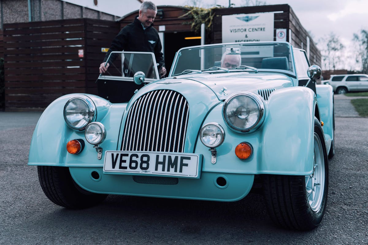 Classic Morgan driving experience and Morgan factory tour bucket list gift Virgin Experience Days