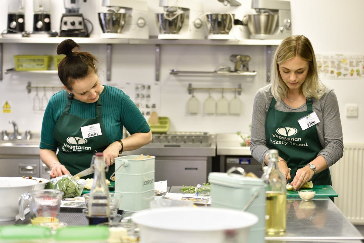 Vegan cookery class at Vegetarian Society Cookery School with Virgin Experience Days