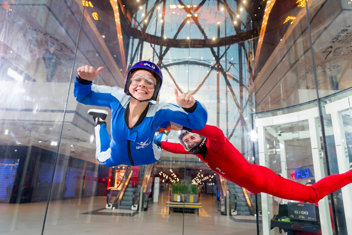 Indoor skydiving experience adrenaline summer days out 2020 Virgin Experience Days