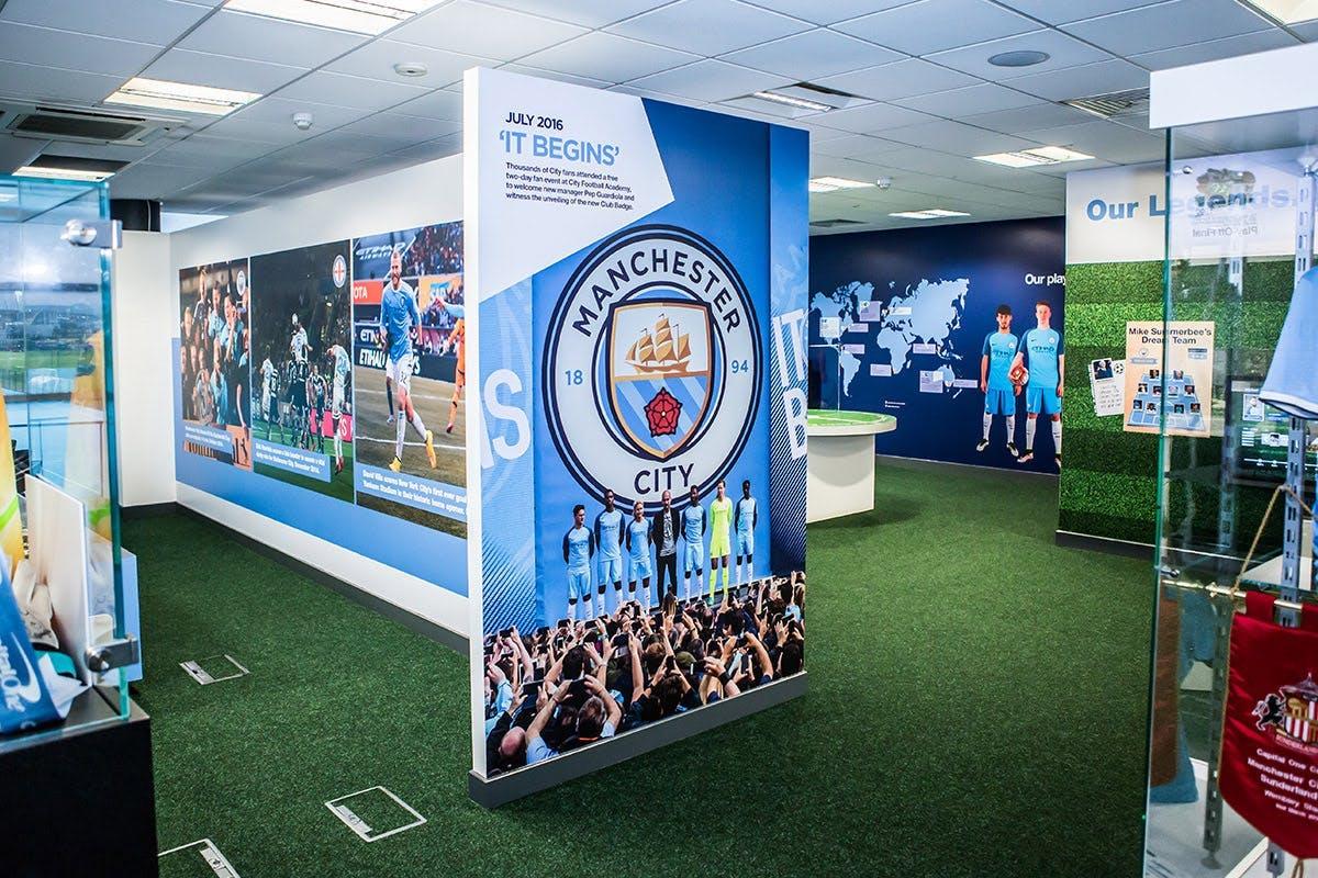 Manchester City stadium tour and Football Academy museum