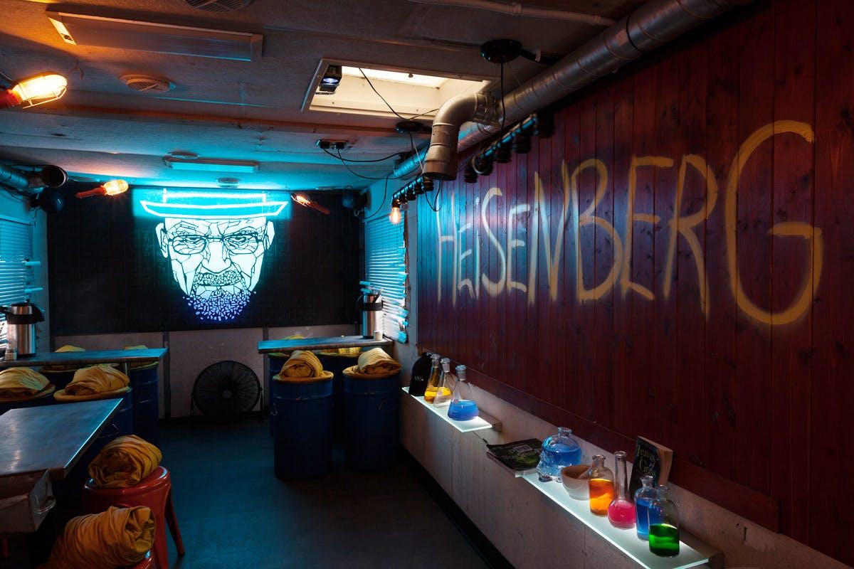 Pop-up cocktails at Breaking Bad Heisenberg themed bar London