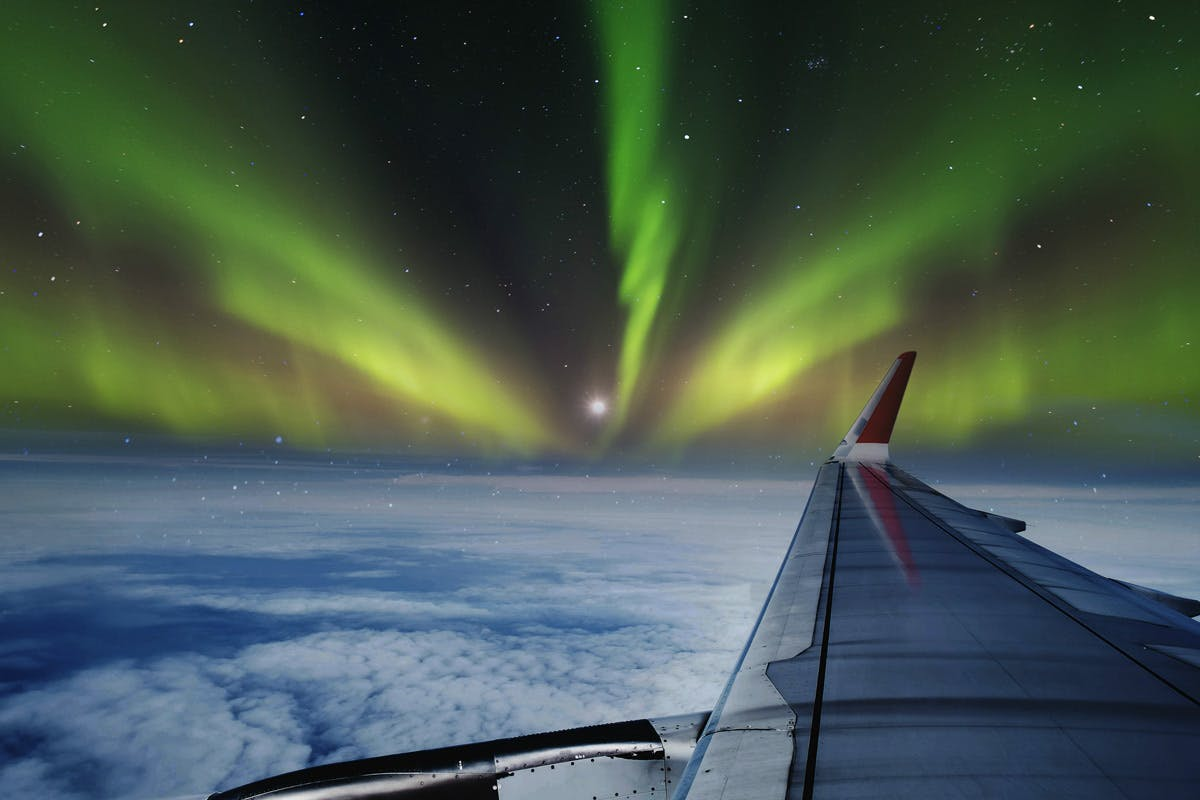 Special 30th birthday gift ideas Northern Lights flight for two with Virgin Experience Days