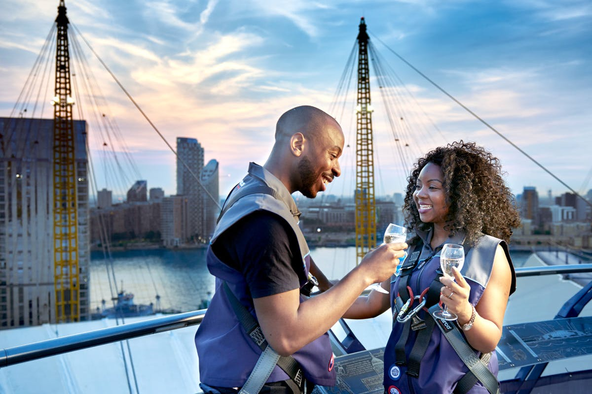 Couple up at the top of the O2 with Virgin Experience Days