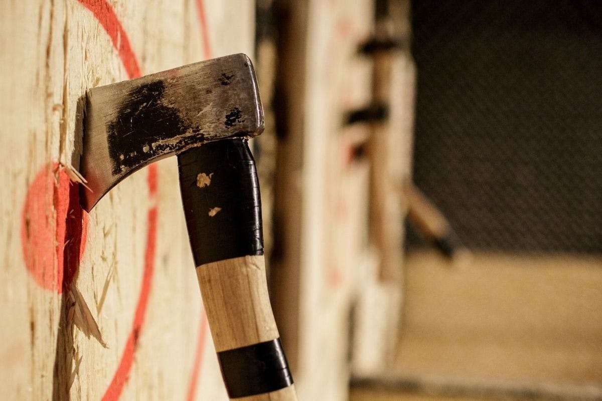 Urban Axe Throwing experience for Father's Day gifts with Virgin Experience Days