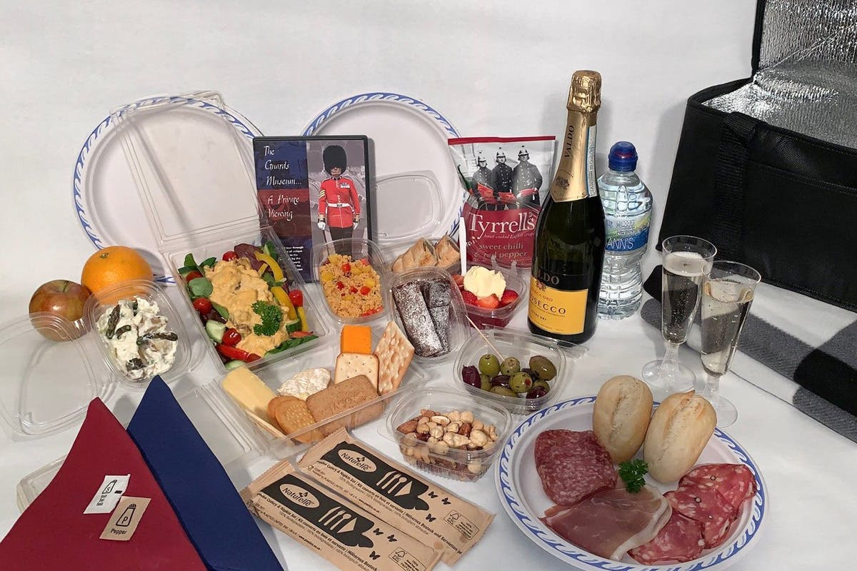 Luxury picnic hamper at The Sword & The Crown: VIP Military Music Spectacular