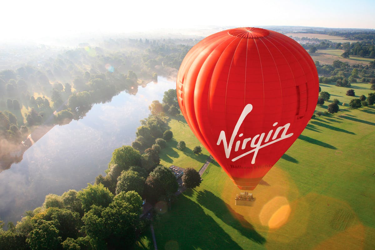 Virgin hot air balloon bucket list experience with Virgin Experience Days