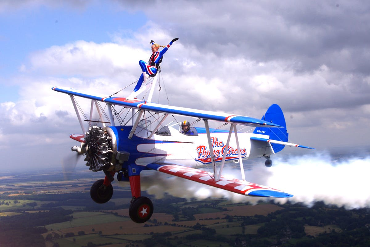 Wing walking bucket list experience with Virgin Experience Days