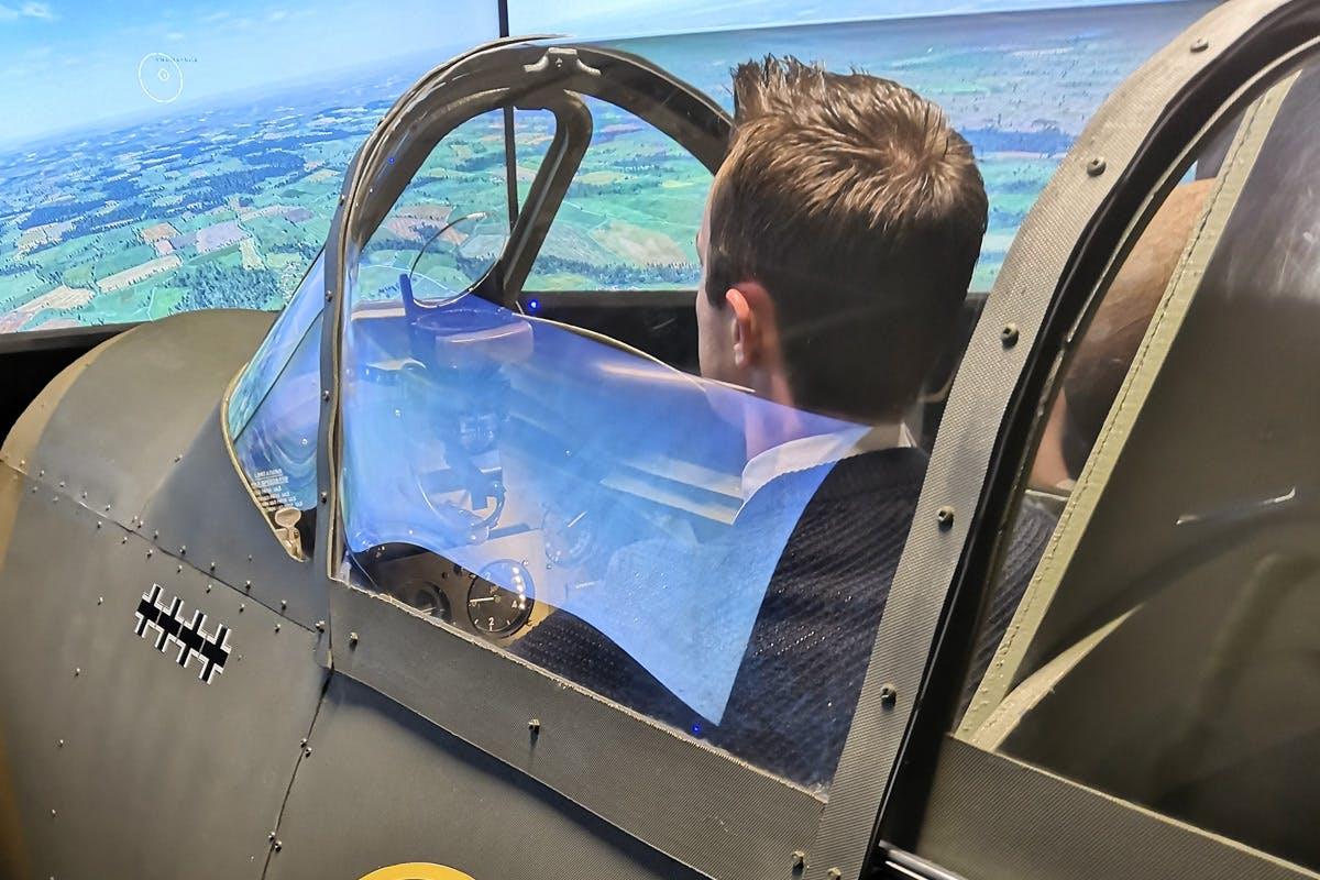 30 minute Spitfire or Messerschmitt Flight Simulator