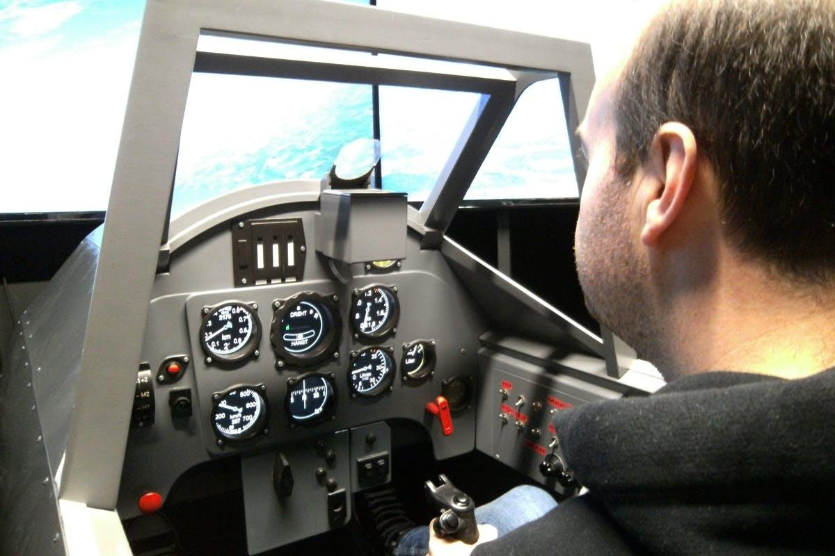 60 Minute Spitfire or Messerschmitt Flight Simulator