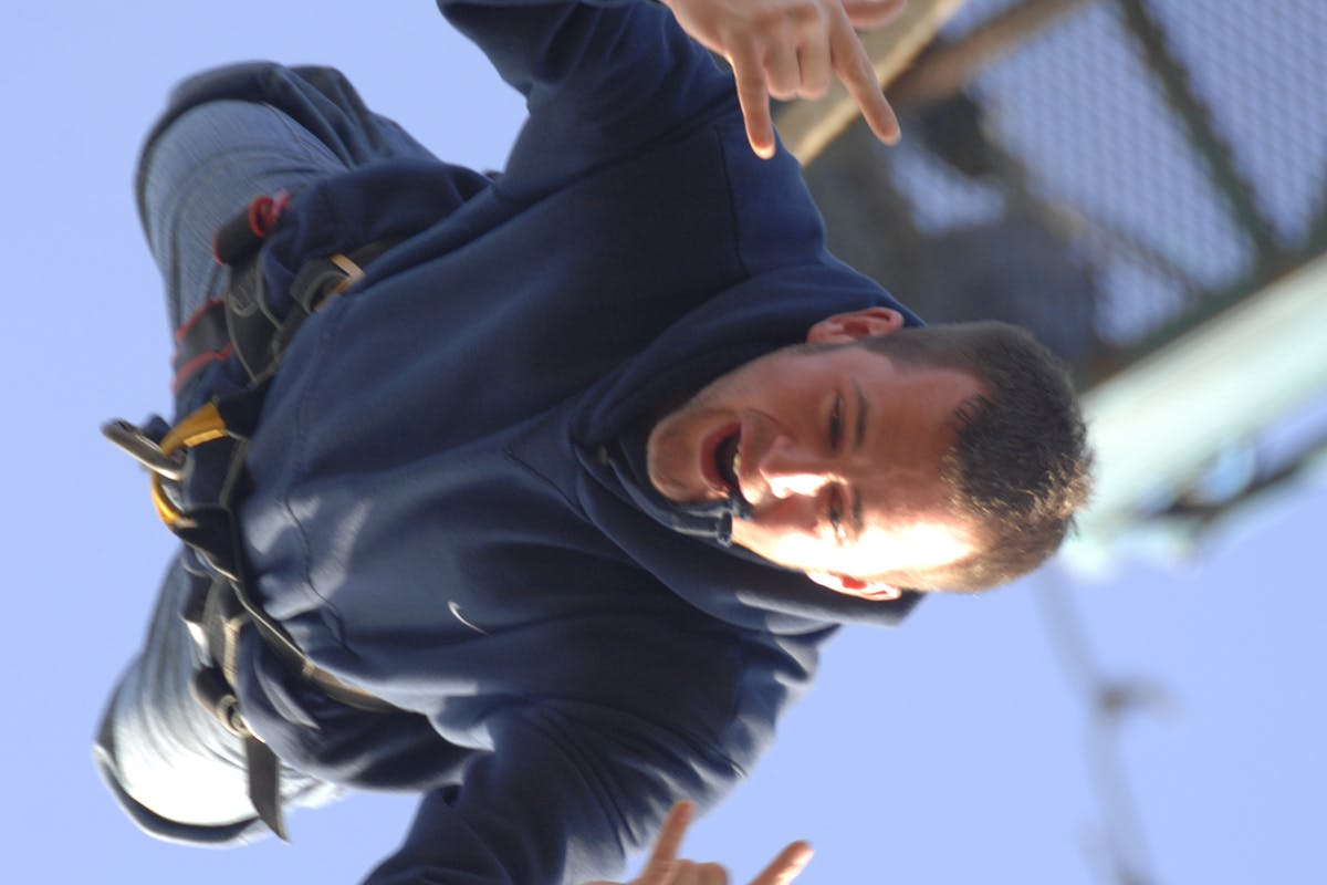 Bungee Jump Off A Platform 160ft Above The Ground For One