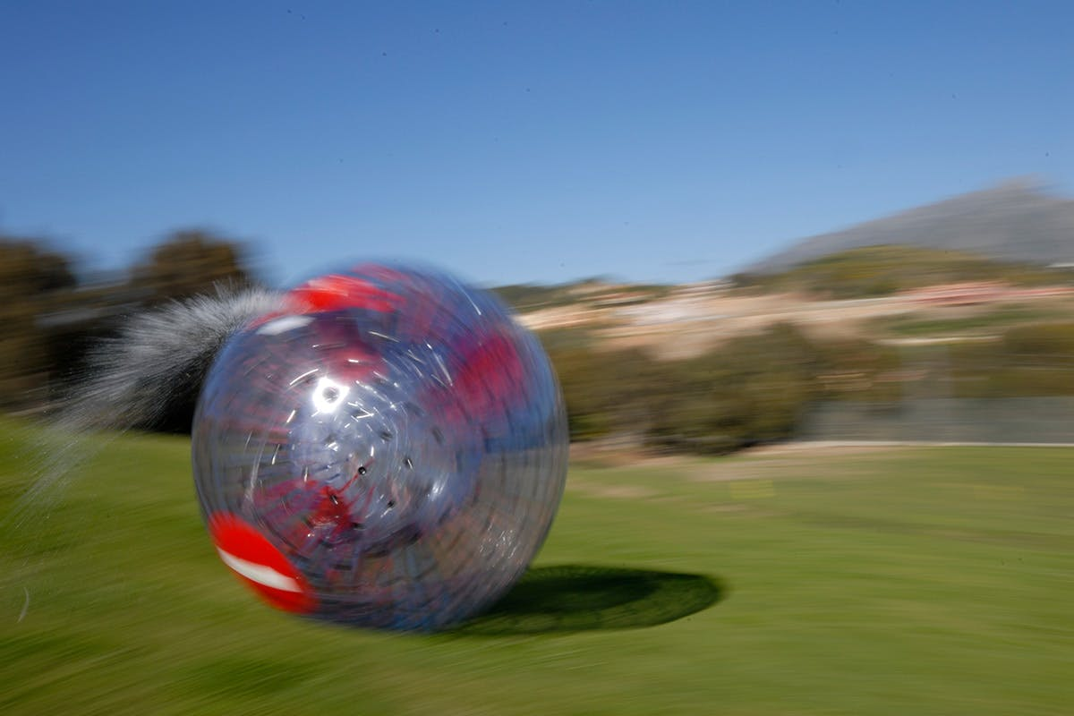 12ft Inflatable Zorbing Choice Experience For Two   Virgin Experience Days Voucher