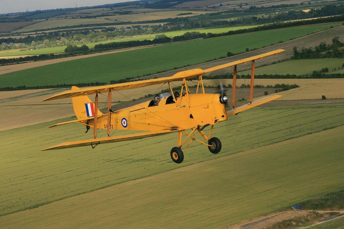 30 Minute Tiger Moth Flight In An Open Cockpit And Iwm Duxford Entry   Virgin Experience Days Voucher