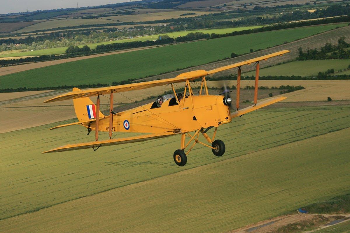 15 minute Tiger Moth Flight and IWM Duxford Entry