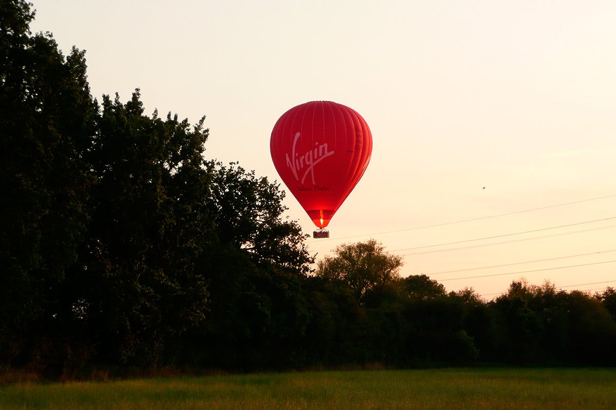 Weekday Sunrise Virgin Hot Air Balloon Flight for One