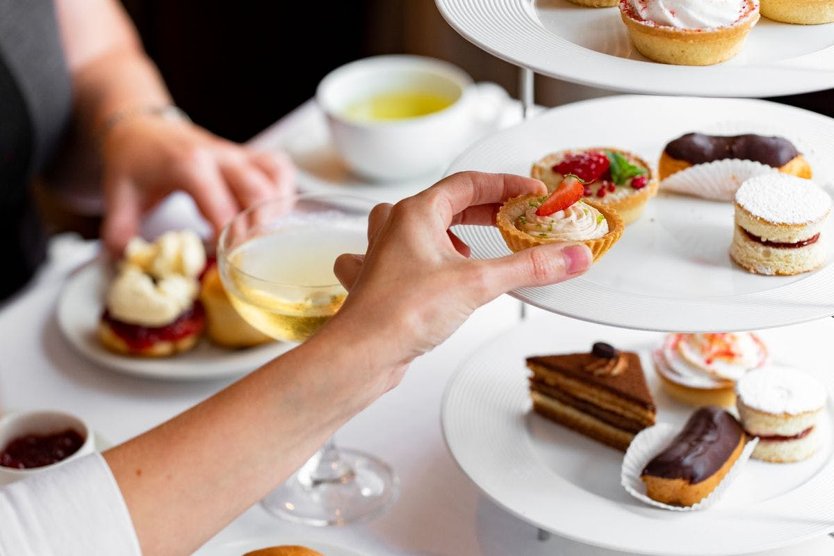 Afternoon Tea for Two with a Bottle of Champagne at The Cavendish Hotel, Mayfair