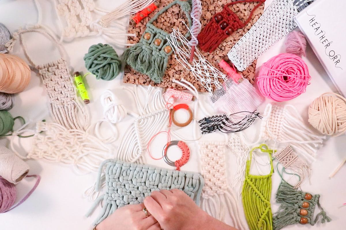 At Home Macrame Masterclass Kit with Online Tutorial Videos