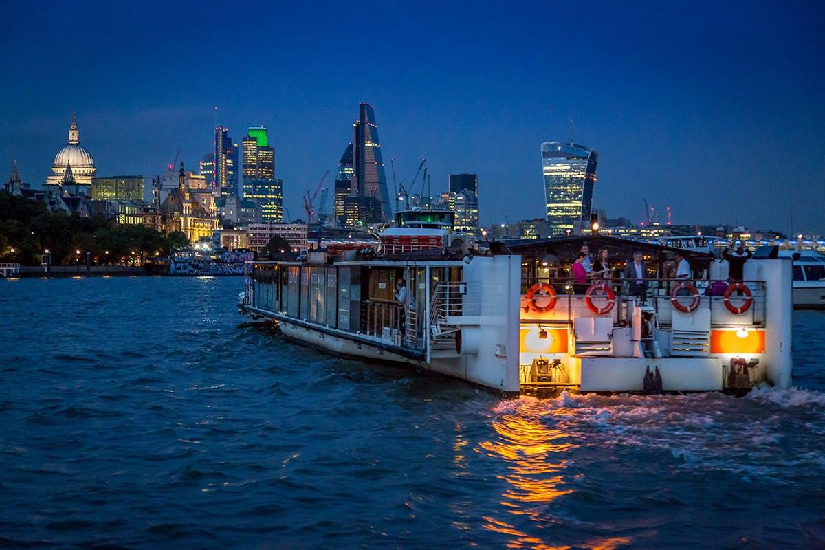 Bateaux London Five Course a la Carte Thames Dinner Cruise for Two