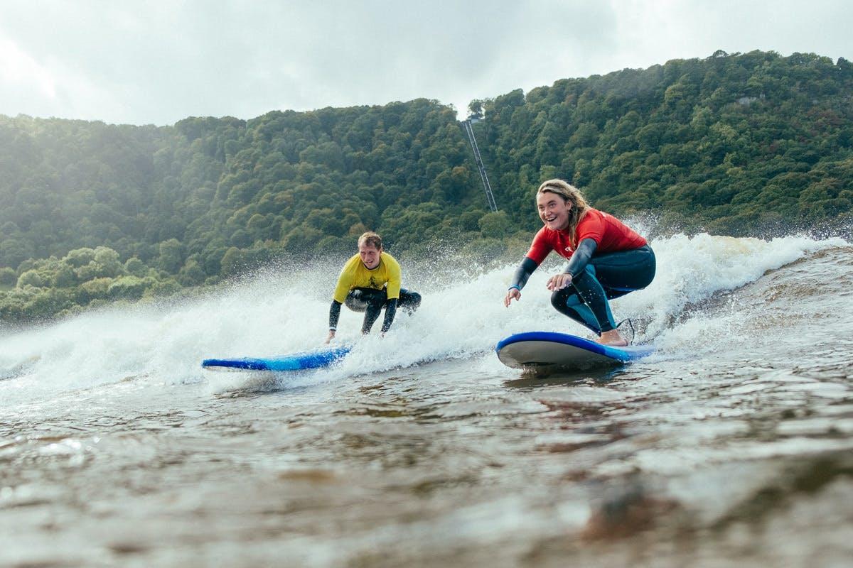 Beginner Surf Lesson at Adventure Parc Snowdonia