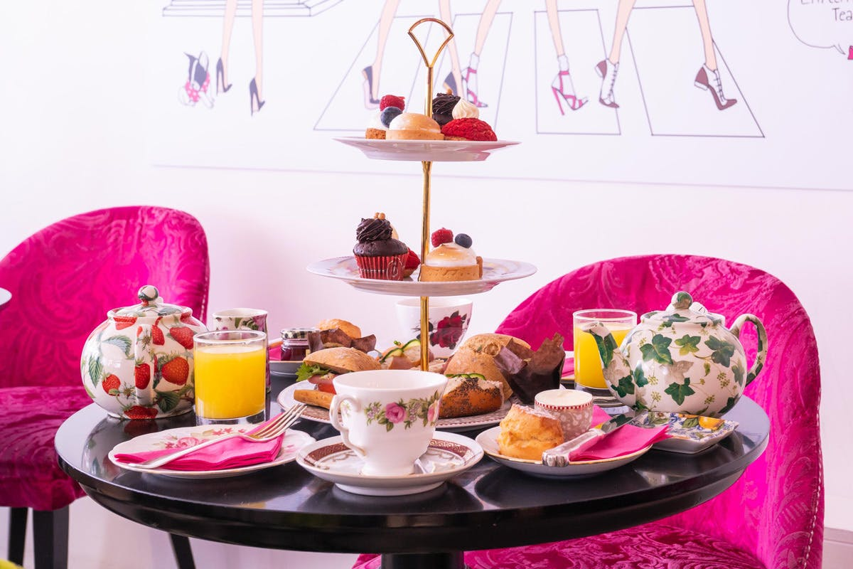 Bottomless Gin Cocktail Afternoon Tea for Two at Brigit's Bakery Covent Garden