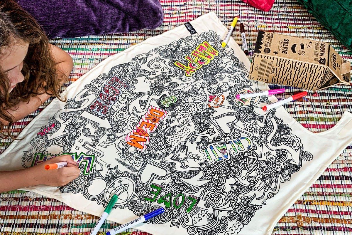 Children's Colour-In Creative Kit - Positivity Powers Cape