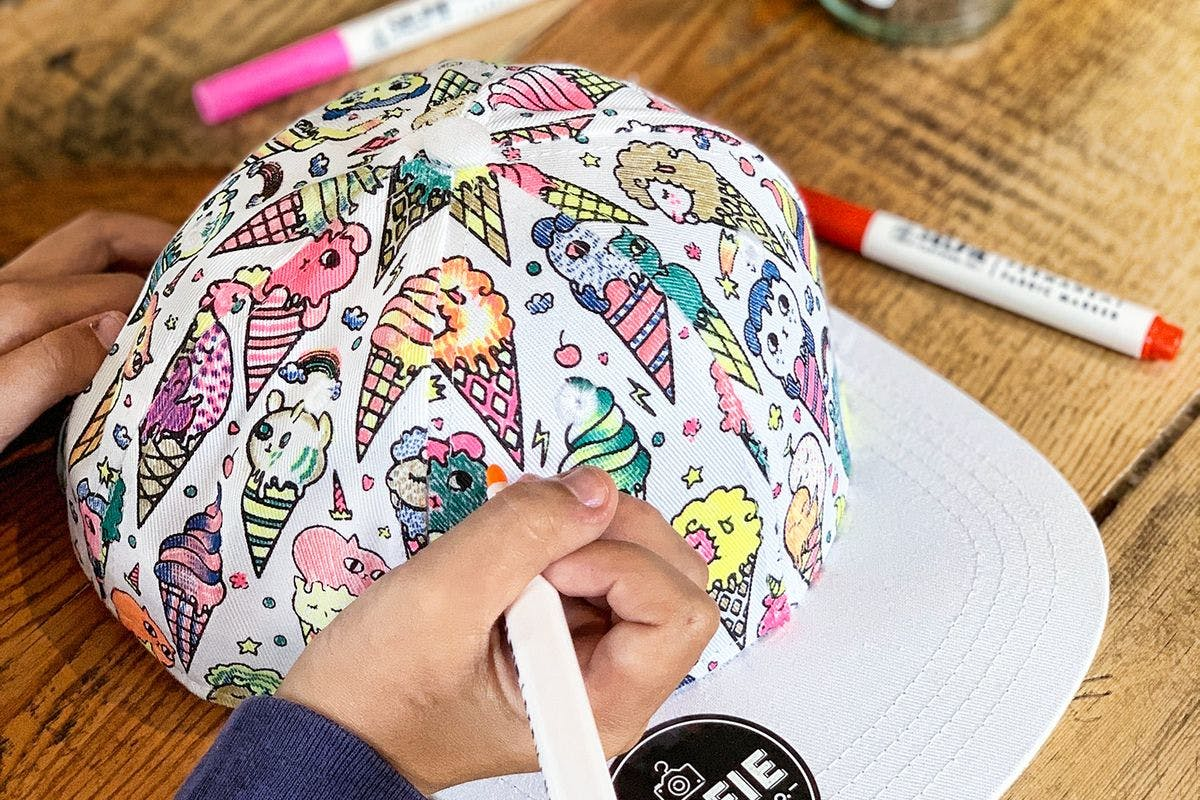 Children's Colour-In Creative Kit - Ice Kream Cap