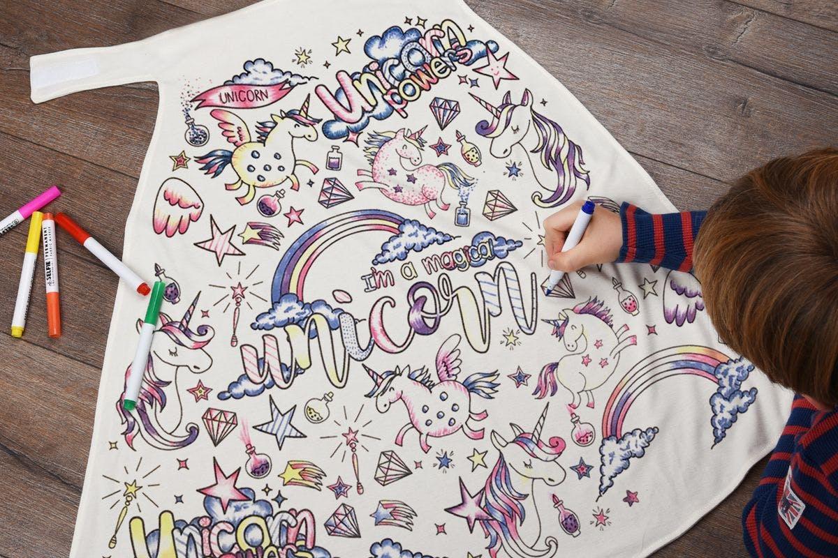 Children's Colour-In Creative Kit - Unicorn Cape