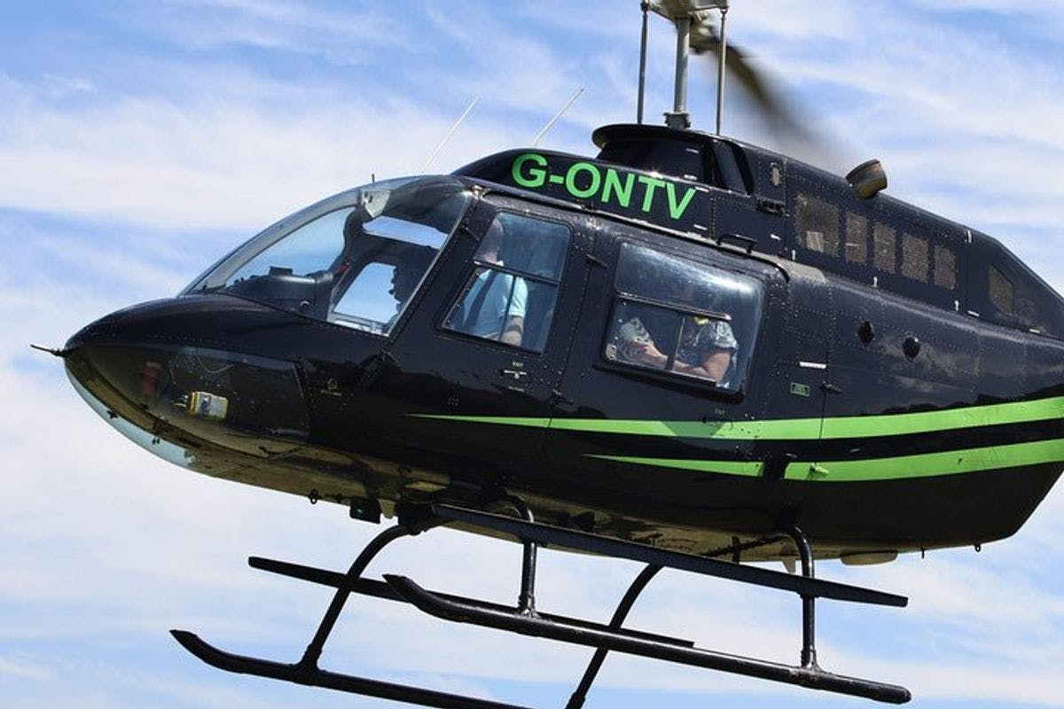 City Discovery with Helicopter and Open Top Bus Sightseeing Tour for Two