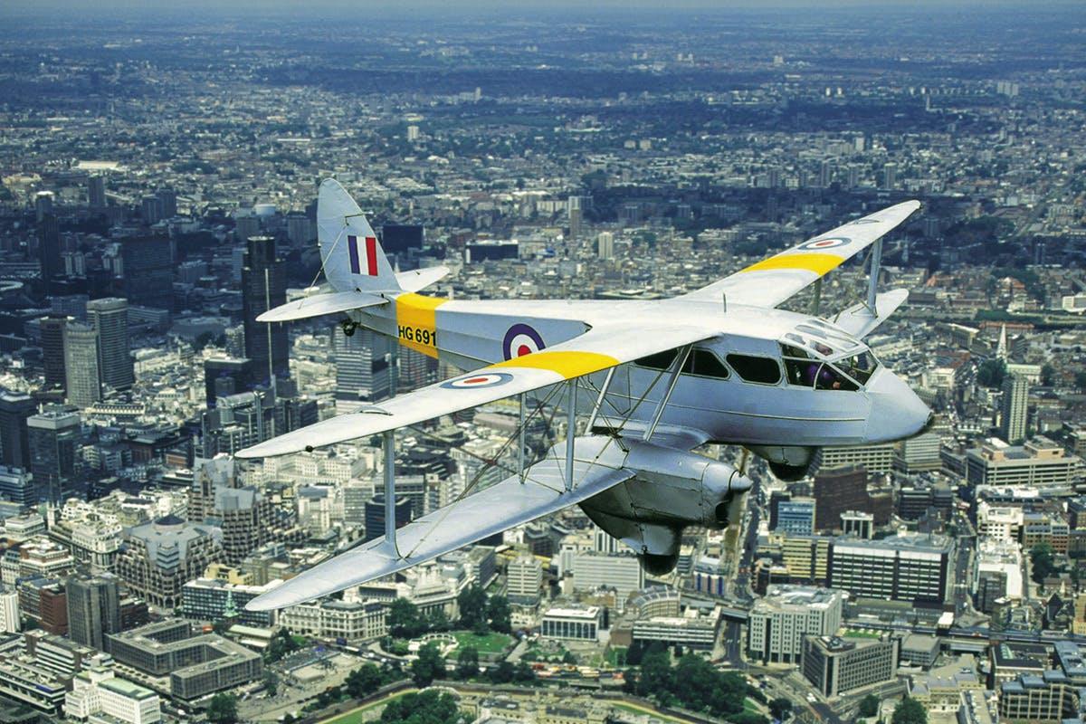 De Havilland Dragon Rapide Flight over London for Two