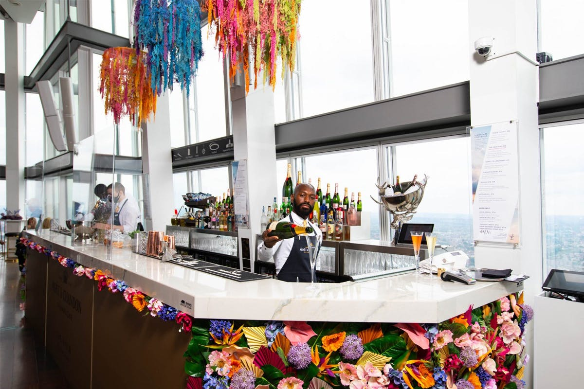 Deluxe Visit to The View from The Shard with Champagne, Photos and Guidebook for Two