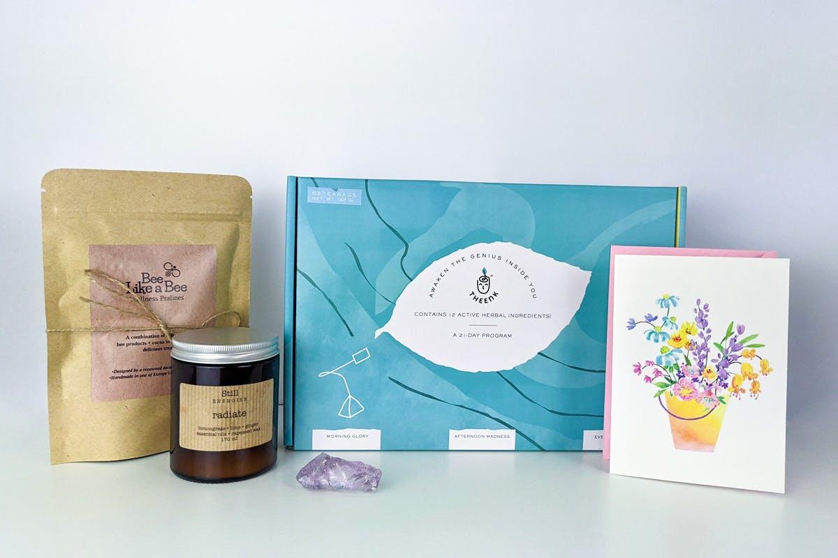 Deluxe Wellness Gift Box with 21 Day Tea Program from Theenk Tea