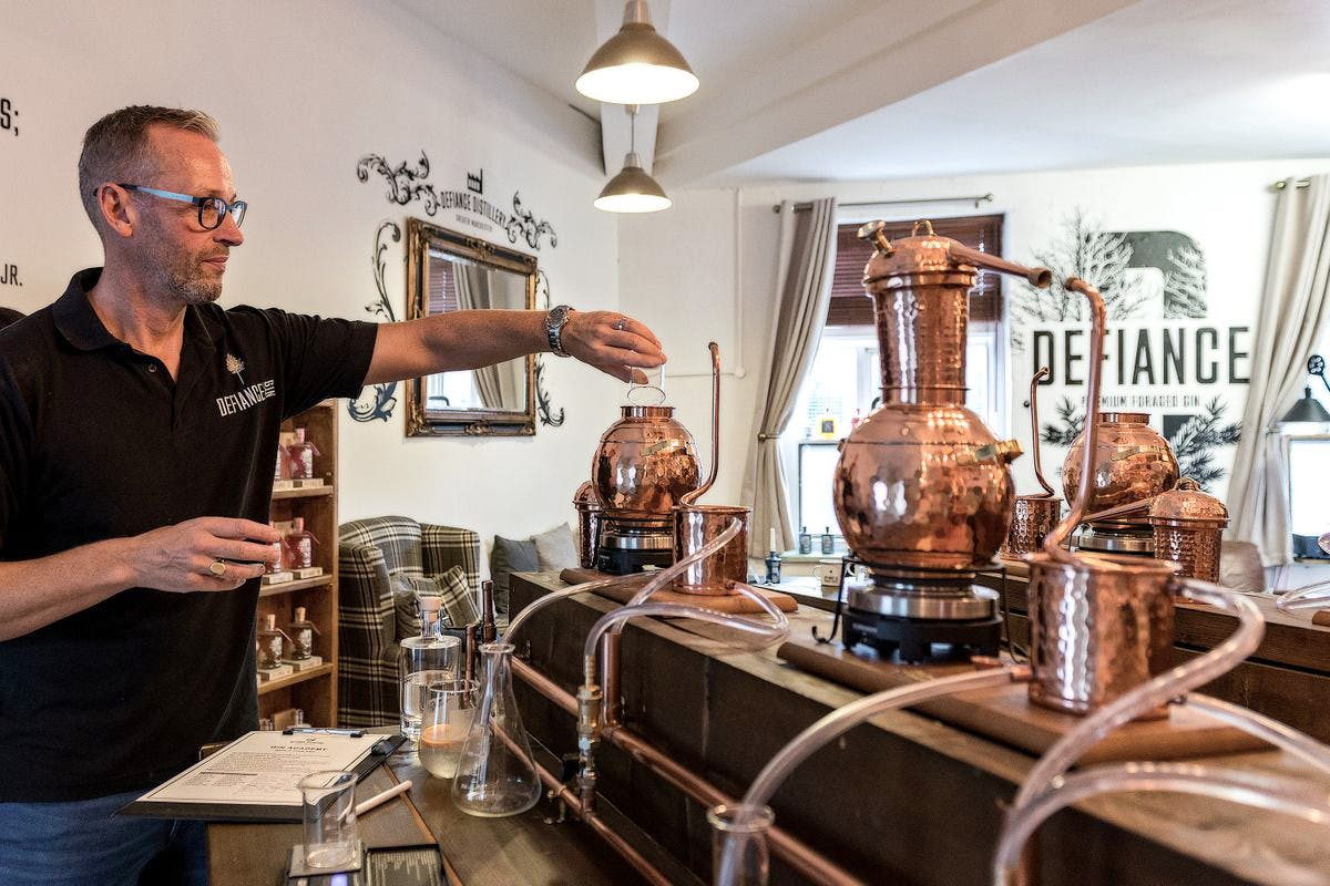 Distill Your Own Gin with G&T's and a Mezze Board at Defiance Gin Academy