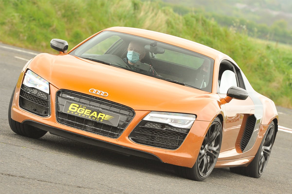 Double Supercar Blast with Demo Lap, Photo and Breakfast for Two at Stafford Driving Centre