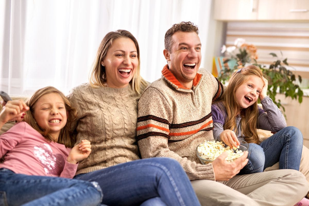 Family Movie Night In for Four with Popcorn, Make Your Own Artisan Pizzas and Ready to Bake Cookie Dough