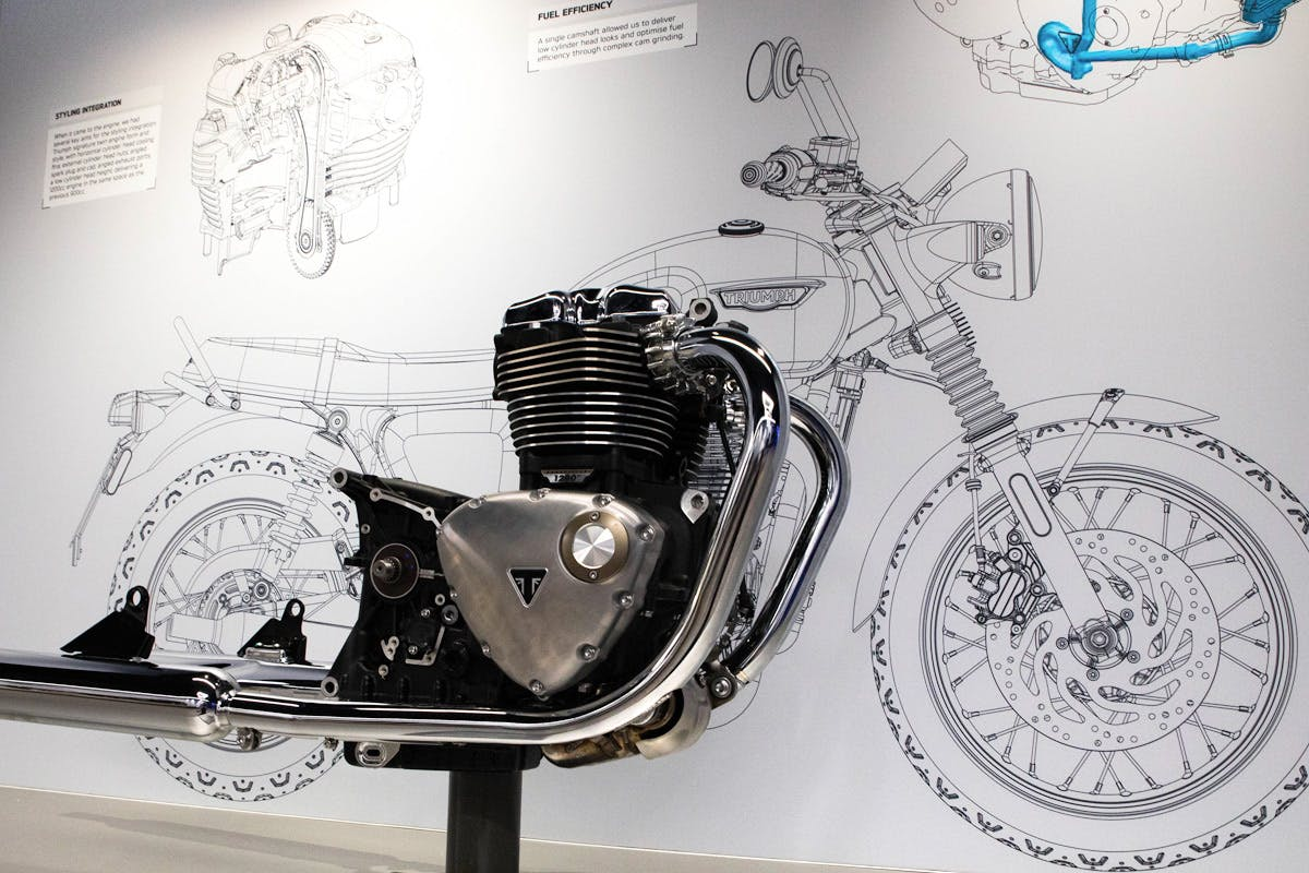 Family Triumph Motorcycle Factory Tour