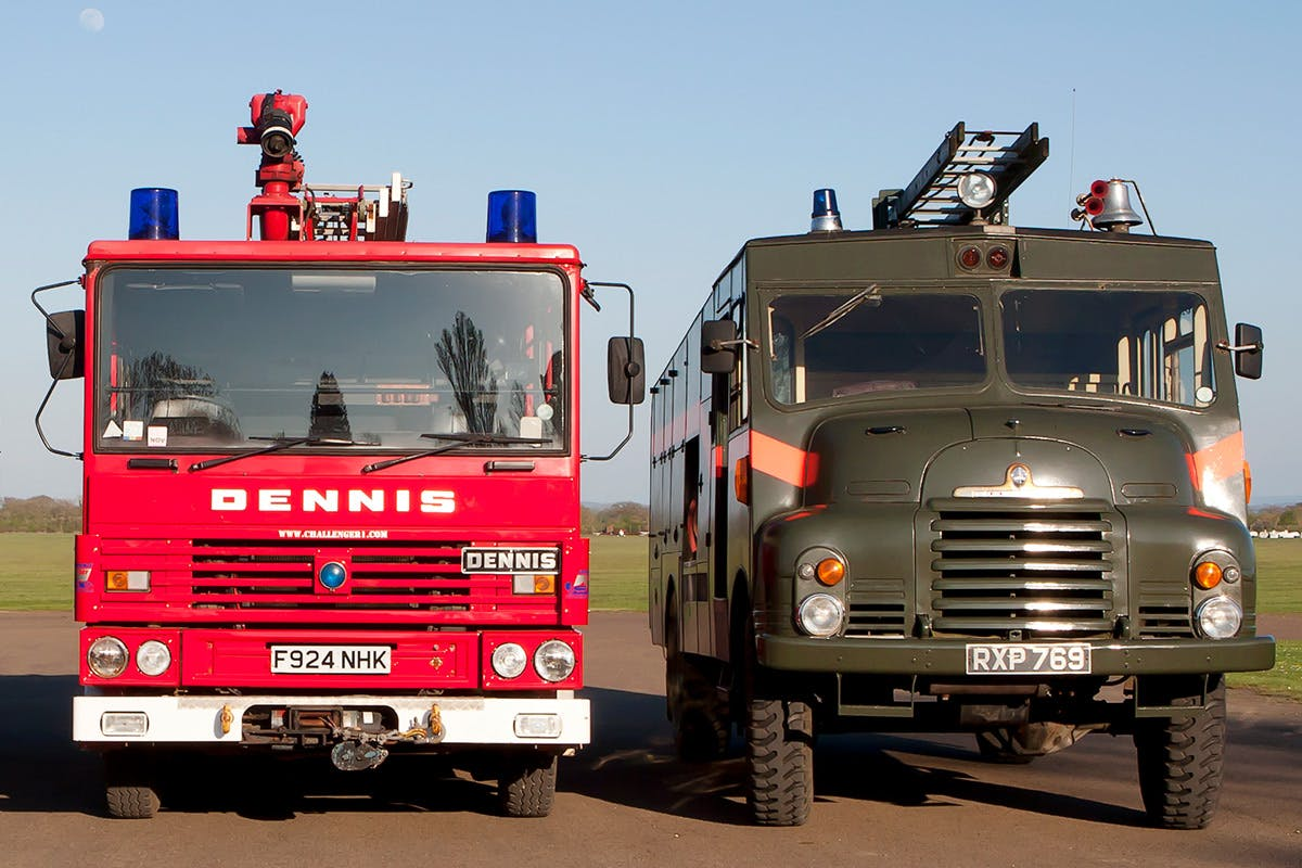 Fire Engine Driving plus Green Goddess Passenger Ride