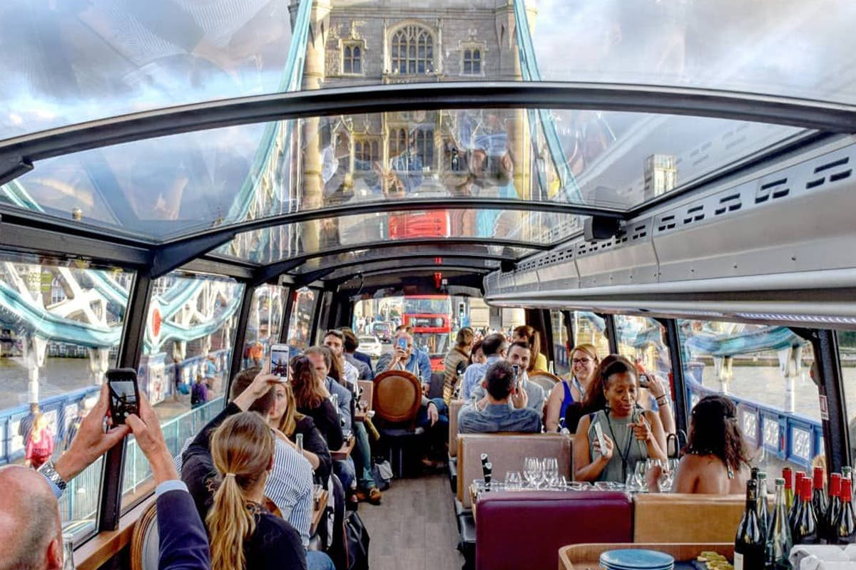 Four Course Lunch with Wine Pairing and Tour for Two aboard the Bustronome, London