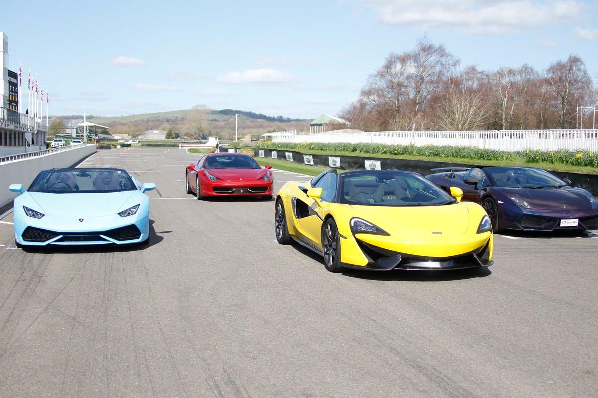 Four Supercar Driving Experience at Goodwood Motor Circuit