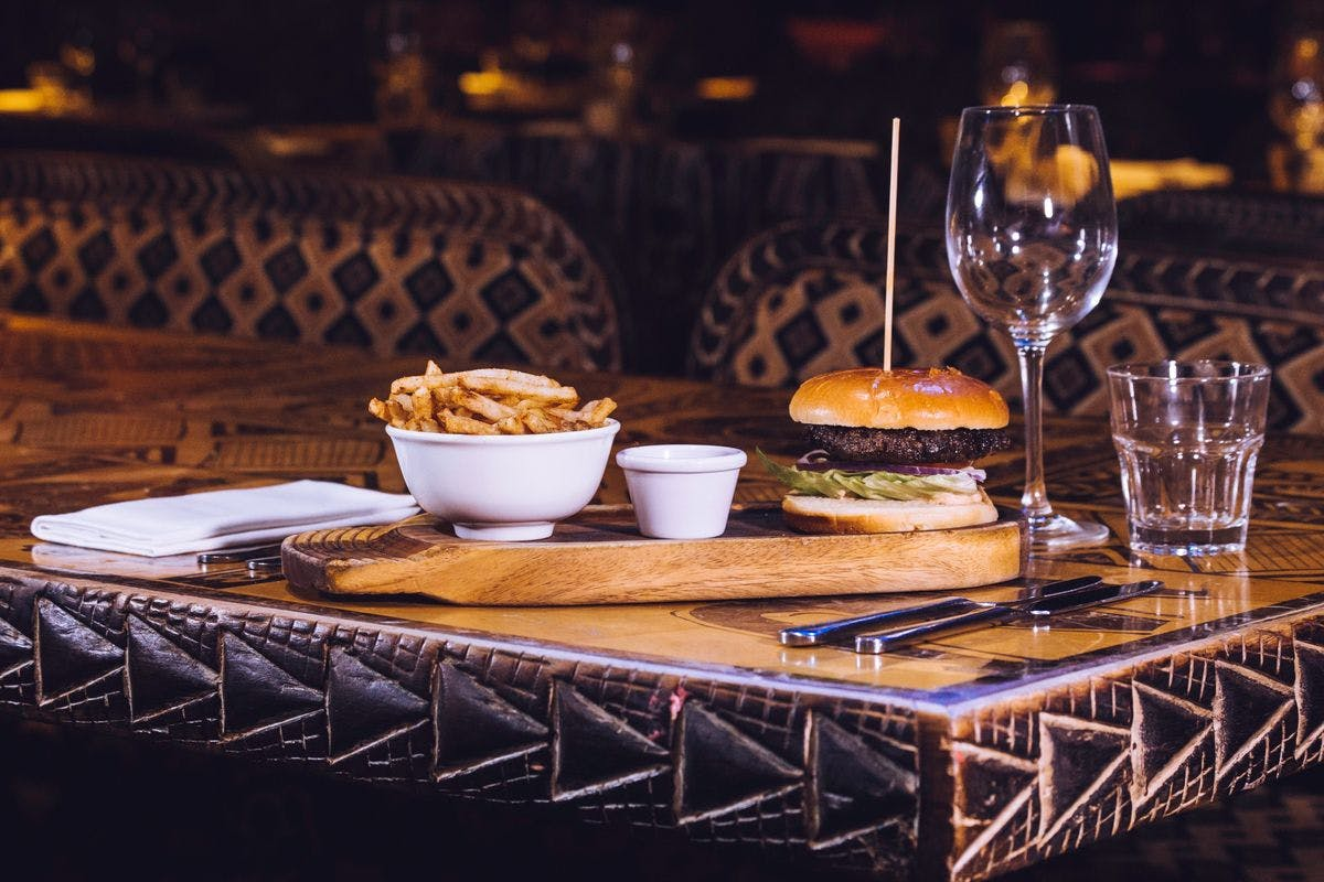 Game Burger, Fries and Cocktail for Two at London's Shaka Zulu
