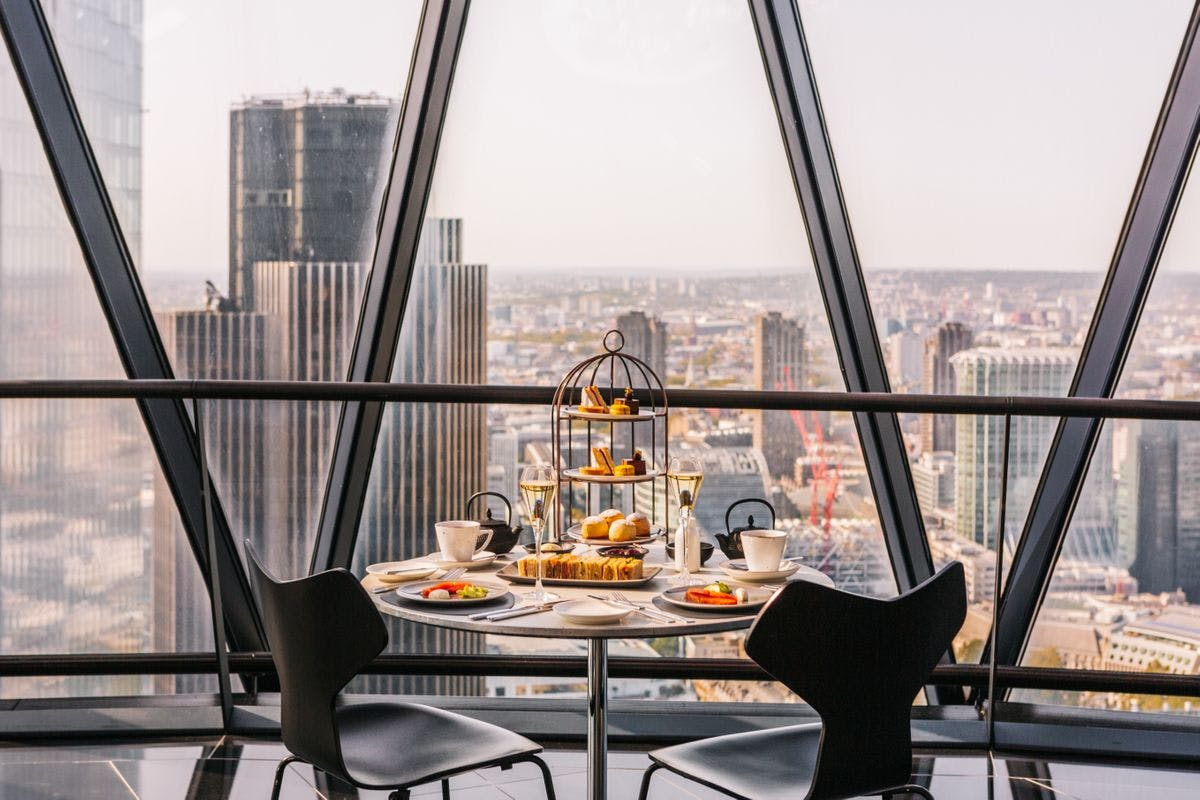 Gin Afternoon Tea for Two at London's Iconic Gherkin