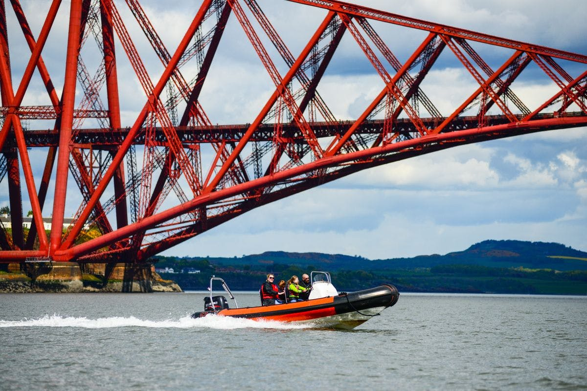 Half Day Learn to Drive a RIB Powerboat on the Forth