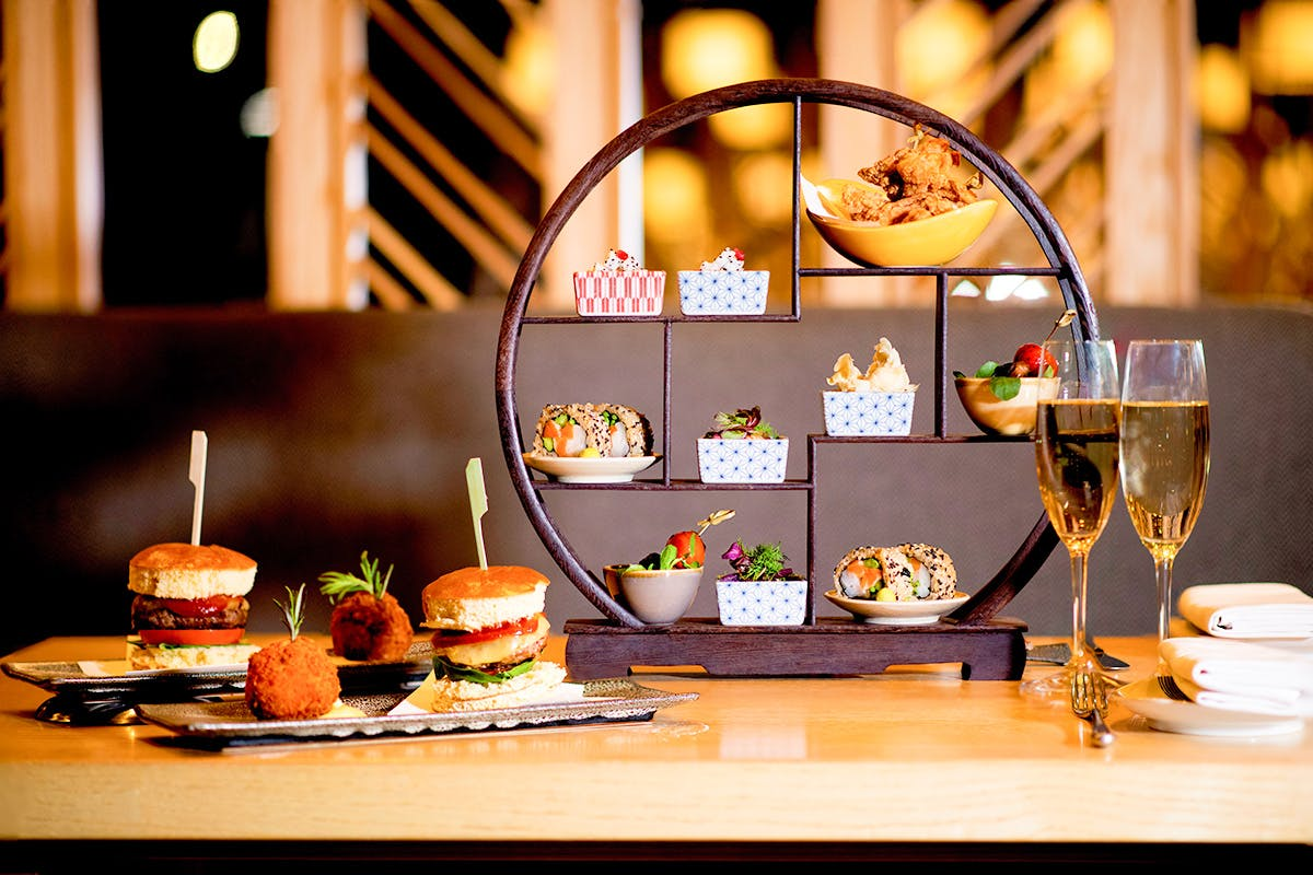 Japanese Afternoon Tea with Champagne for Too at Ginza, St James's