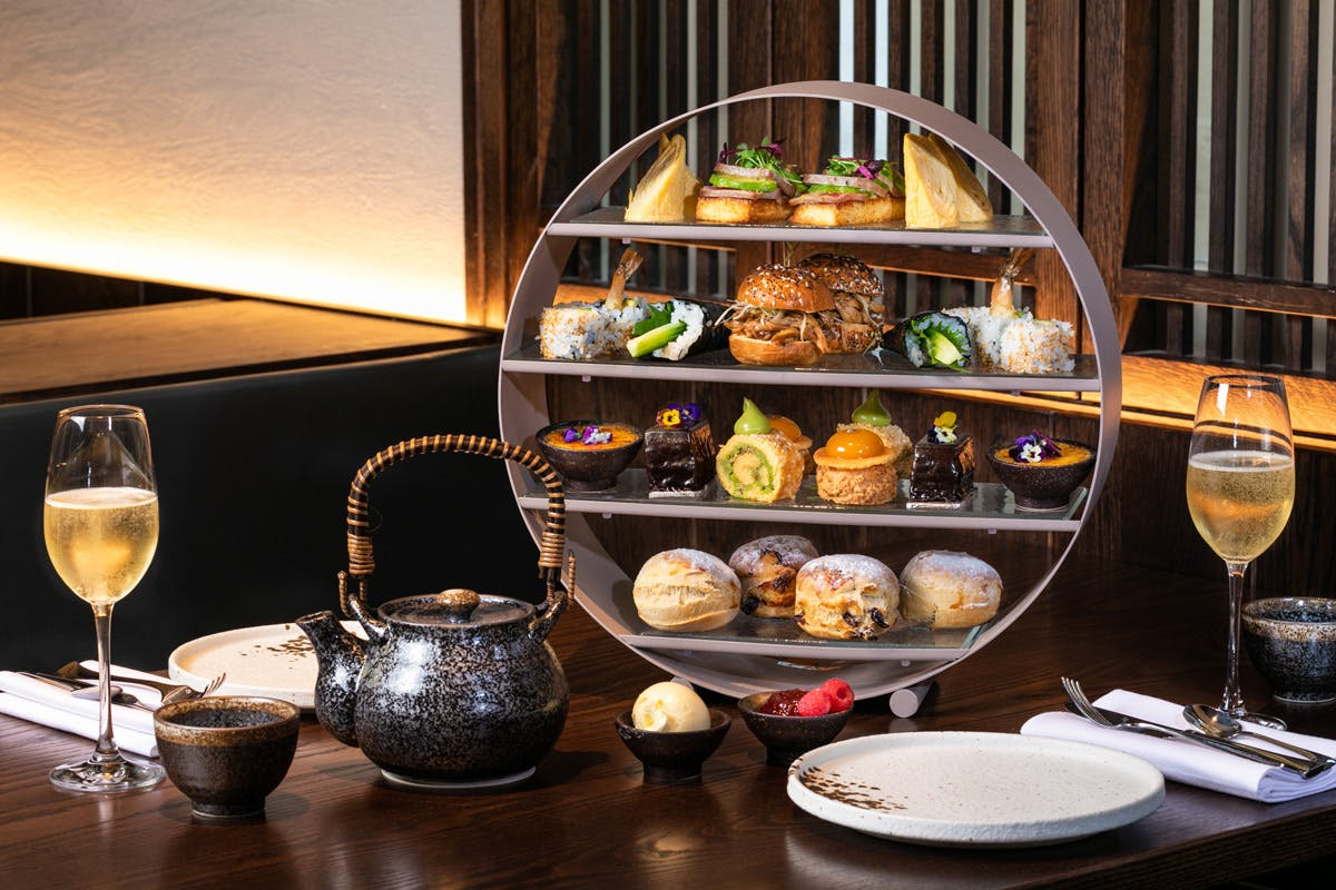 Japanese Inspired Afternoon Tea with Sake Flight for Two at The 5* Luxury Prince Akatoki London